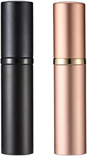 Perfume Bottles Refillable Empty Glass Atomizers Portable Travel Size Mini Leaking Proof Spray Perfume Container for Women & Men (z-Black+Golden)