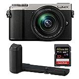 PANASONIC LUMIX GX9 4K Mirrorless with 12-60mm Plus DMW-HGR2 Authentic LUMIX GX9 Camera Grip Bundle
