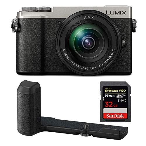 PANASONIC LUMIX GX9 4K Mirrorless with 12-60mm Plus DMW-HGR2 Authentic LUMIX GX9 Camera Grip Bundle