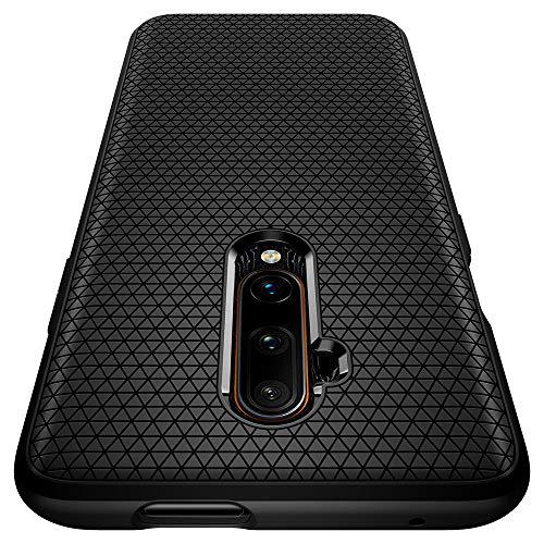 Spigen Liquid Air Kompatibel mit Oneplus 7T Pro Hülle, Stylisch Muster Silikon Handyhülle Schutzhülle Capsule Hülle Matte Black ACS00313