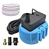 9. Swimming Pool Cover Pump 850 GPH Submersible Sump Pumps Above Ground with 3 Adapters Drainage Hose 25 ft Power Cord (Blue)