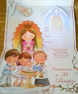 Baptism Bautizo Christening Party Invitations Spanish Invitaciones Virgencita Baby Fiesta 10PC