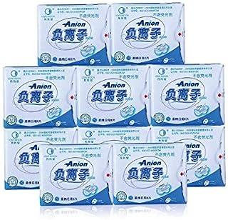 KYK 10 Pack Hygienic Pad Sanitary Pads Feminine Hygiene Love Moon Sanitary Napkins Feminine Anion Sanitary Pads Panty Liner lovemoon (Size : Blue)