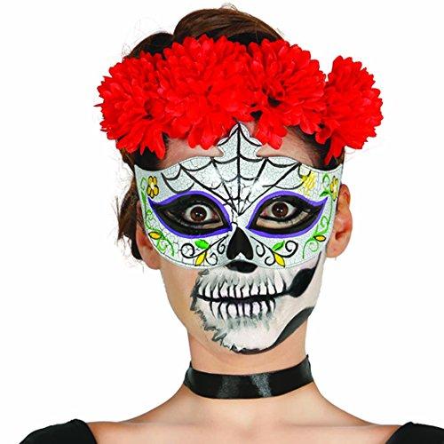 NET TOYS Antifaz Sugar Skull Máscara Mexicana de Muertos Halloween...