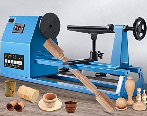 Best Prices! GHGJU Desktop Lathe,Woodworking Lathe,4-Speed Speed Regulation,Industrial-Grade Metal A...