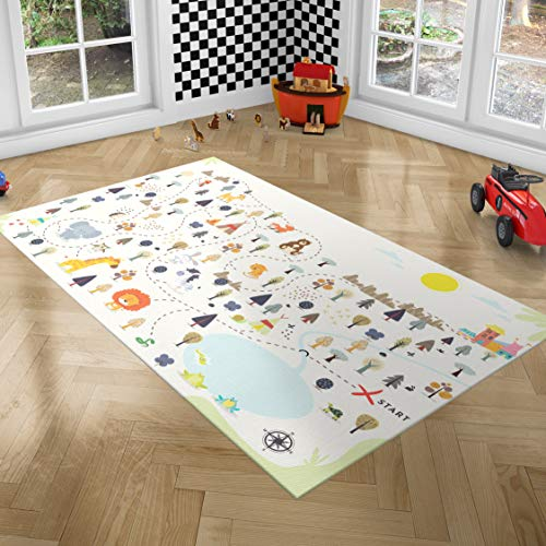 PLAYGROUND - Spielmatte Baby Schadstofffrei, Weiche Krabbelmatte als Rutschfester Spielteppich, Puzzelmatte Baby Spielmatte, Krabbeldecke für Baby,Spielmatte Kinder,Babymatte Krabbelmatte - 100x150cm