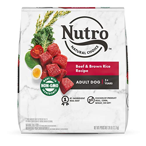 NUTRO WHOLESOME ESSENTIALS Adult Natural Dry Dog Food Beef & Brown Rice Recipe with Ancient Grains, 28 lb. Bag