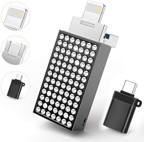 USB Flash Drive Photo Stick 128GB Memory Stick USB Thumb Drive Compatible for iPhone 6 7 8 Plus product image