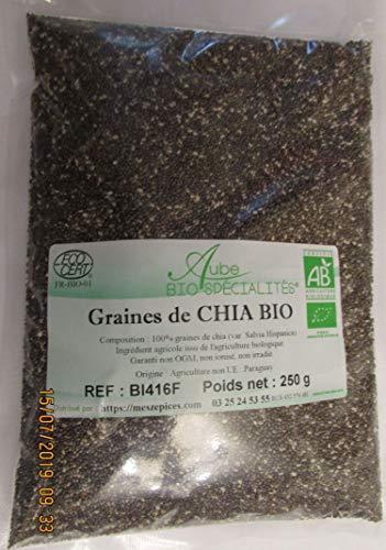 Graine de chia bio en sachet de 250 gr