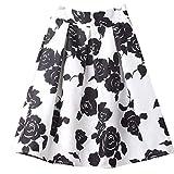 NOBRAND Jupe mi-longue plissée jupe jacquard imprimée - Noir - 52