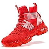 Scarpe da Basket Scarpe per Bambini e Ragazzi, 37 EU, Rosso