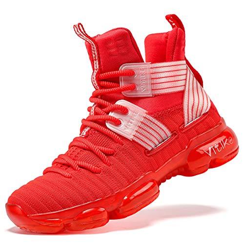 Scarpe da Basket Scarpe per Bambini e Ragazzi, 31 EU, Rosso