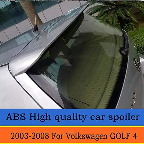 LSYBB Hohe QualitäT Abs Material Auto HeckflüGel Primer Farbe Heckspoiler GeäNdert Spoiler FüR Volkswagen Golf 4 Spoiler 2003-2008,Silver