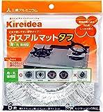 三菱アルミニウム Kireidea ガスアルマットタフ シルバー 縦17.5×横17.5×深さ1.2cm 角・丸兼用型 6枚入