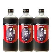 麹発酵 黒大豆搾り 黒豆クエン酸酢 720ml×3本(日本健康医学会賞受賞)