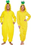 Silver Lilly Pineapple Costume - Adult Fruit Pajamas (Yellow, Small)