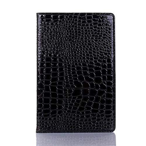 AXRXMA Crocodile Leather Twitch Stand Light-Weight Tablet Case Cover Compatible with Galaxy Tab S5e 10.5 inch 2019 SM-T720/SM-T725 (Color : Black)