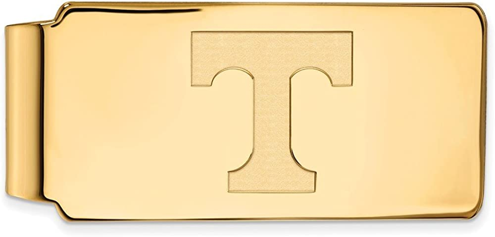 Solid 14k Yellow Gold Official Tennessee Free shipping anywhere Max 42% OFF in the nation Slim of University Busi