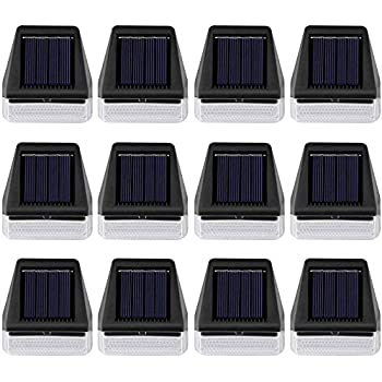 Maggift 12 Pack Solar Step Lights Outdoor Waterproof, Solar Powered Fence Lights Deck Lights Outside Night Lighs Decor for Steps Stairs Walkway Garden Fences Wall