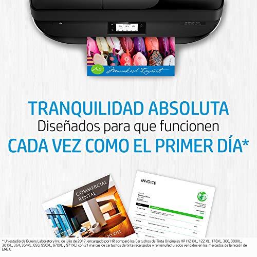 HP 932-933 6ZC71AE, Pack de 4, Cartuchos de Tinta Originales Negro, Cian, Magenta y Amarillo, compatible con impresoras de inyección de tinta HP Officejet 6100, 6600, 6700, 7110, 7130, 7140 y 7510