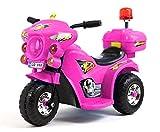 Elektro Kinder Motorrad Kinderfahrzeug Polizei Elektromotorrad LQ998 (Pink) -