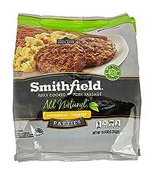 Smithfield, Hometown Original Fully Cooked Pork Sausage 8 Patties, 24 oz (frozen)