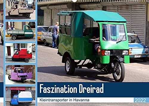 Faszination Dreirad - Kleintransporter in Havanna (Wandkalender 2022 DIN A2 quer)