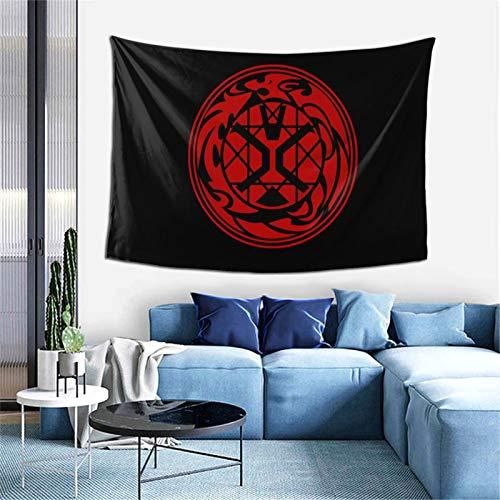 Amamiya Kamen Rider Wizard Logo Tapestry Wall Hanging Anime Tapestries Wall Tapestry Wall Art Home Decoration for Living Room Bedroom Dorm (40' X 60')