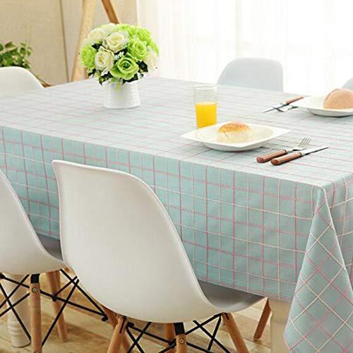 JXXDQ Nappe de table nappe de coton hôtel de salle à manger couverture de table de fête de mariage de tissu (Color : Blue, Size : 130 * 190cm)