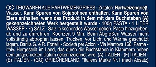 Barilla Hartweizen Pasta Bavette n. 13 – 8er Pack (8x500g) - 8