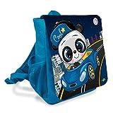 Mochila infantil con diseño de oso panda en el coche para guardería o guardería, con correas acolchadas y correa de pecho, 6 litros de volumen y gran compartimento interior.