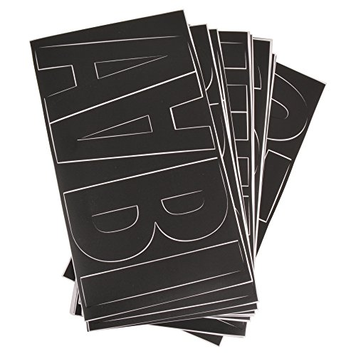 """Westcott LetterCraft 6"""" Vinyl Removable Letter Stickers, Number Stickers and Symbol Stickers, Black, Franklin Gothic Font (15860)"""