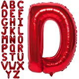 Letter Balloons 40 Inch Giant Jumbo Helium Foil Mylar for Party Decorations Red D