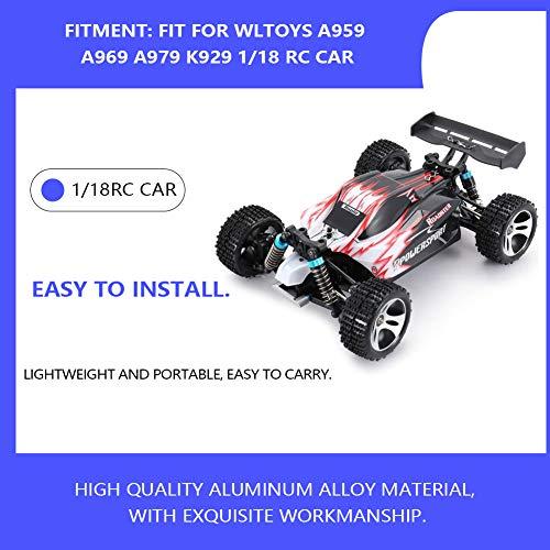 Alomejor RC Car Upgrade Ersatzteilsatz mit zentralem Schwenkarm für Lenkgestänge der Antriebswelle, kompatibel mit WLtoys A959 A969 A979 K929 1/18 RC Car(Titanfarbe)