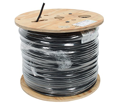 West Penn CAT6 STP Shielded 4 Pair CMR Rated Black, 1000'