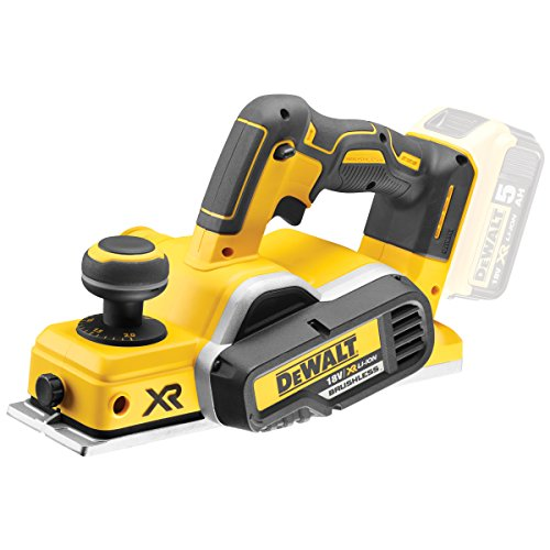 DEWALT DCP580N 18 V XR-Cepillo sin escobillas, iones de litio, color amarillo, Bare Unit, No Battery or Charger