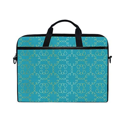 Anmarco Arabesque Vignettes Laptop Shoulder Messenger Bag Case Sleeve for 14 Inch to 15.4 inch Laptop