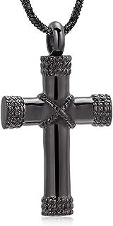 Rope Winding Cross Memorial Keepsake Jewelry Lord's Prayer Cross Urn Pendant Necklace Cremation Ashes Locket