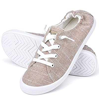 Amazon - 45% Off on Women's Canvas Shoes Low Top Classic Slip-On Lightweight Comfort Fashion