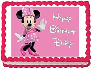 MINNIE MOUSE party decoration edible cake image cake topper