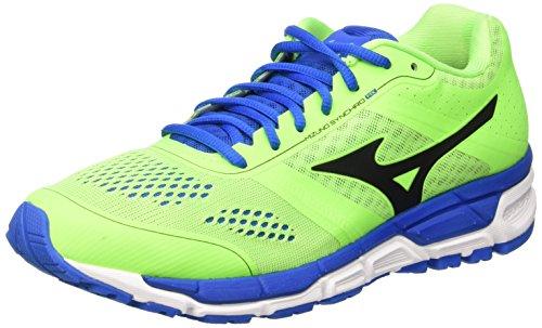 Mizuno Synchro MX Running Shoes - Zapatillas para Hombre, Verde (Green Gecko/Black/Skydiver), 42 EU