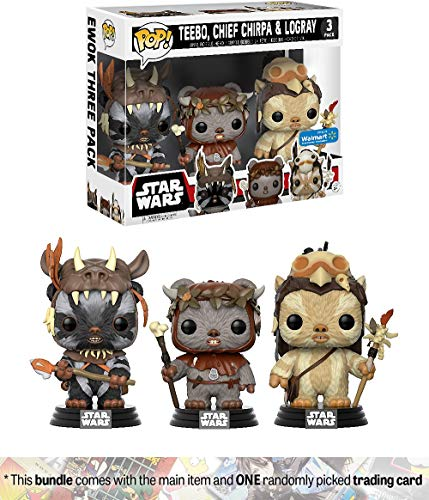 Teebo, Chief Chirpa, Logray (Walmart Exc): Funko Pop! Vinyl Figure Bundle with 1 Official S.W. Trading Card (14956)