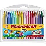 BIC Kids Plastidecor - Estuche de 36 unidades, ceras de colores surtidos, Clásico