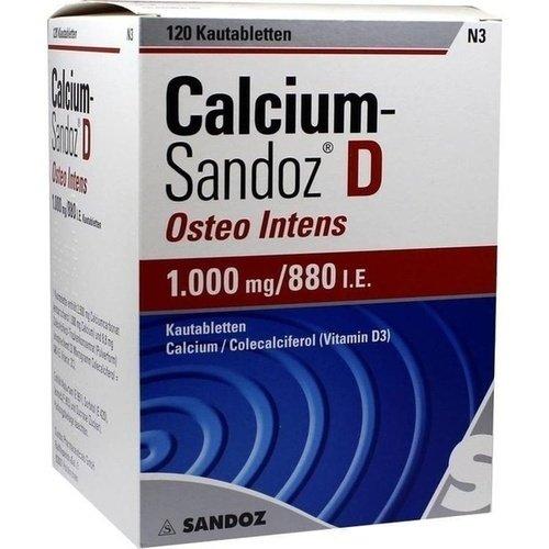 Calcium-Sandoz D Osteo intens 1000/880 Brausetabletten, 120 St.