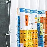 GOODS+GADGETS Cortina de ducha Sistema Periodo de Elementos PSE cortina de baño para los amantes del baño Breaking Bads; Antimoho de 100% poliéster para bañera de ducha