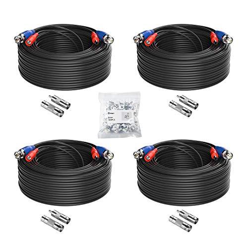 Anlapus 4X 30M Video Strom Kabel BNC DC Verlängerungskabel für CCTV Überwachungskamera DVR System