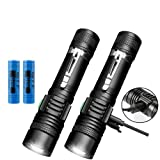 20000LM Shadowhawk Flashlight Rechargeable USB T6 LED Tactical Torch (2 PACK)