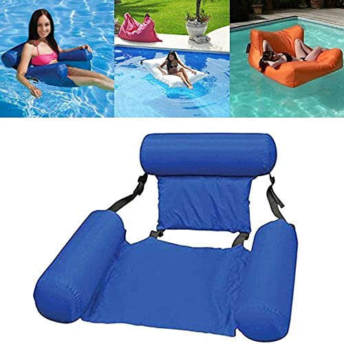 ZYZY Hamaca inflable de agua para piscina, tumbona flotante para piscina, flota para adultos, colchoneta de playa flotante inflable