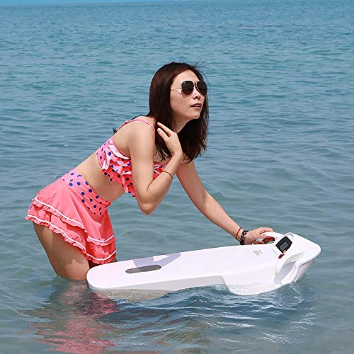 ZUEN 5-15KM / H Under Water Sea Scooter, Impermeable 3200W Seascooter Eléctrico De Alta Velocidad Submarino Propeller Diving Pool Scooter Blanco