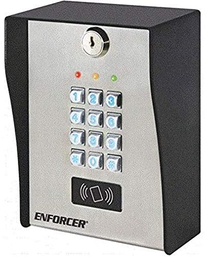 Seco-Larm SK-3133-PPQ Heavy-Duty Outdoor Access Control Keypad with Proximity Reader, Up to 1000 User Codes and/or Proximity Cards, Up to 50 Temporary Visitor Codes, 12~24 VAC/VDC Operation